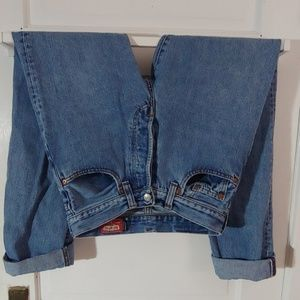 Vintage high waist blue jeans